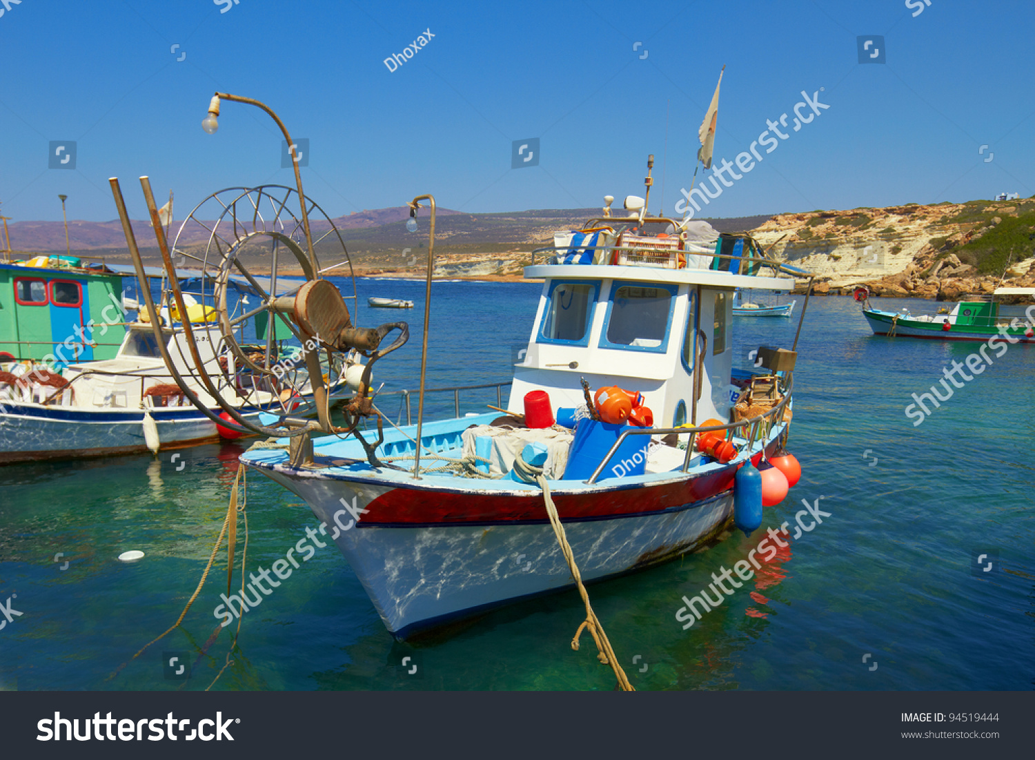 A photo of old fishing boat 94519444 shutterstock for Old fishing boat