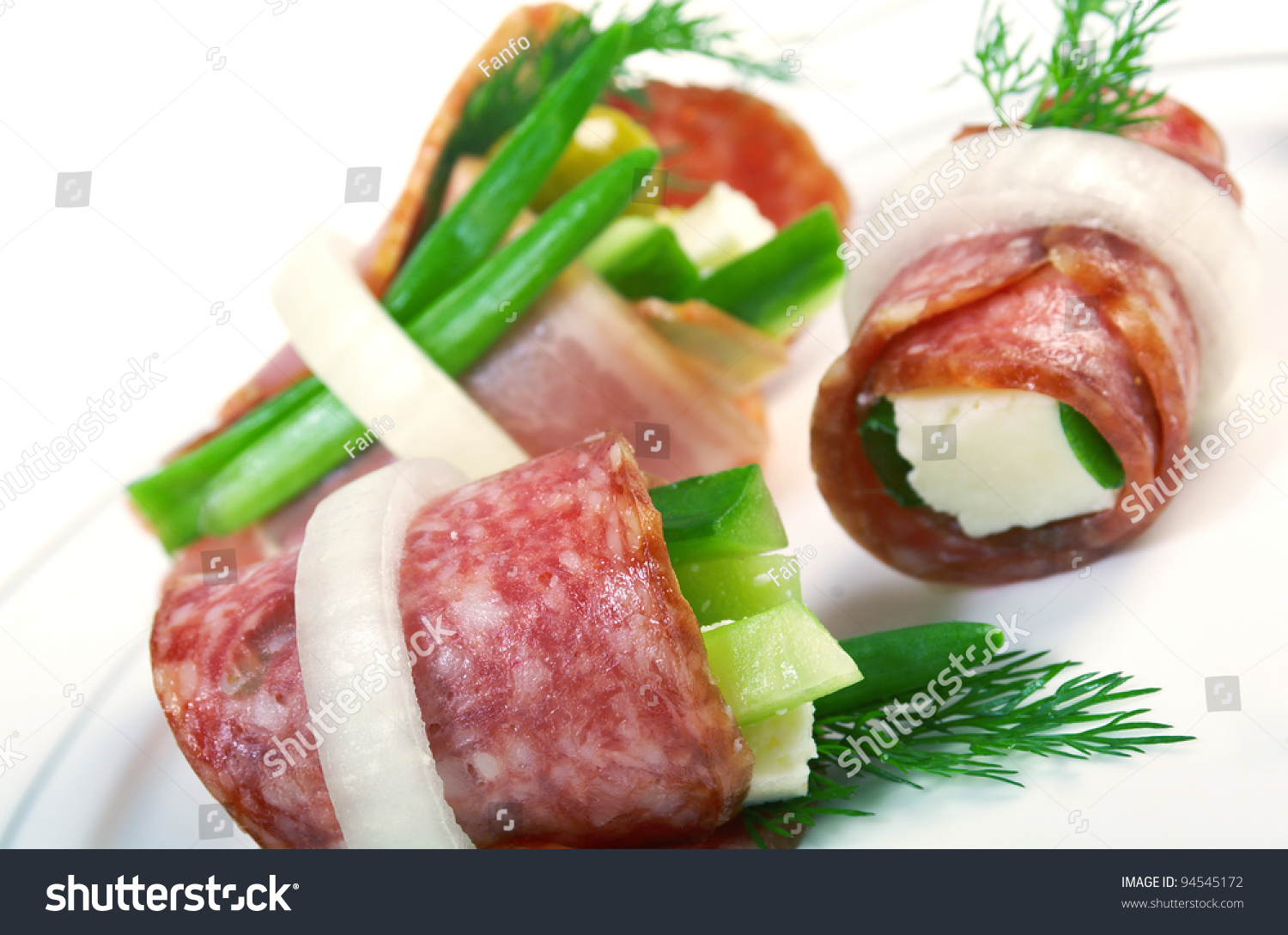 Canape platter with cheese smoked sausage cucumber onion for Canape platters