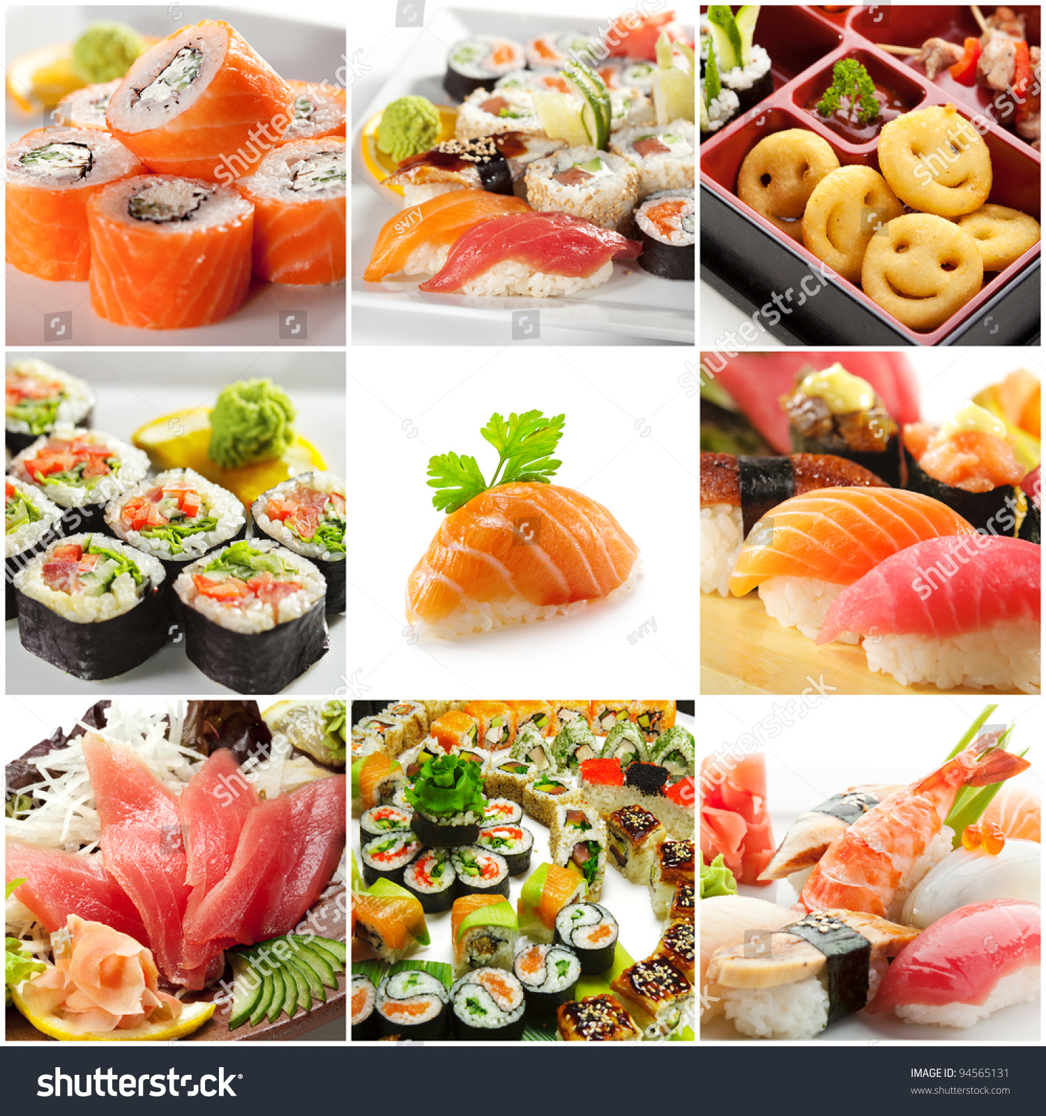 Japanese food collage stock photo 94565131 shutterstock for Asian tokyo japanese cuisine