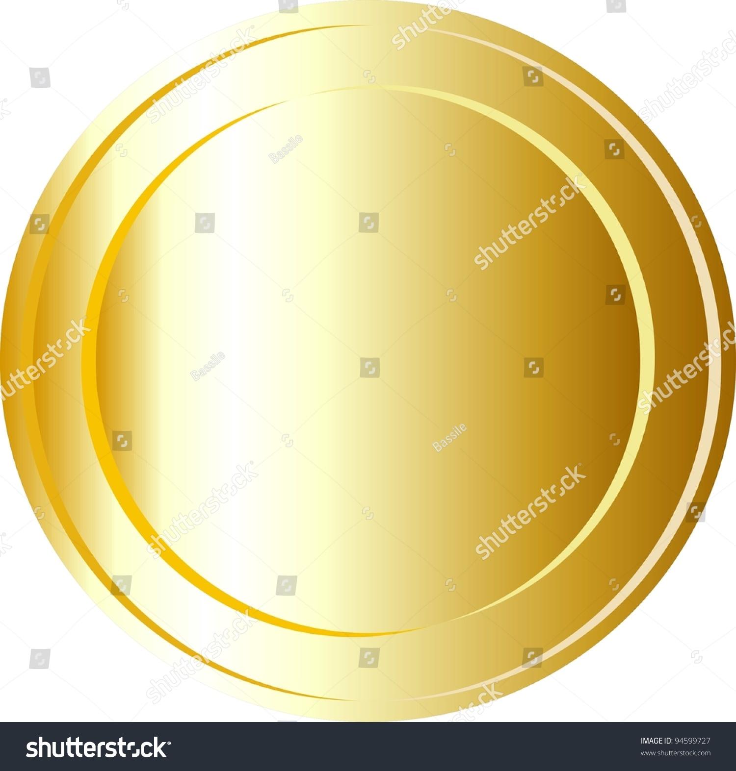 gold coin template stock illustration 94599727 shutterstock