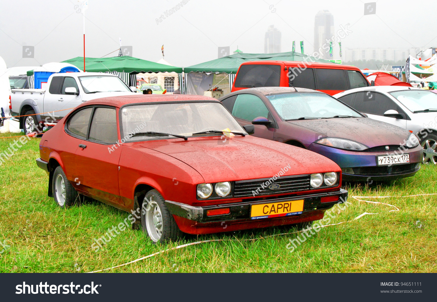 Moscow Russia July 10 1978 Ford Capri Mk Iii Exhibited