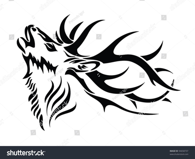 Line Drawing Deer : Deer sketch by deroise on deviantart