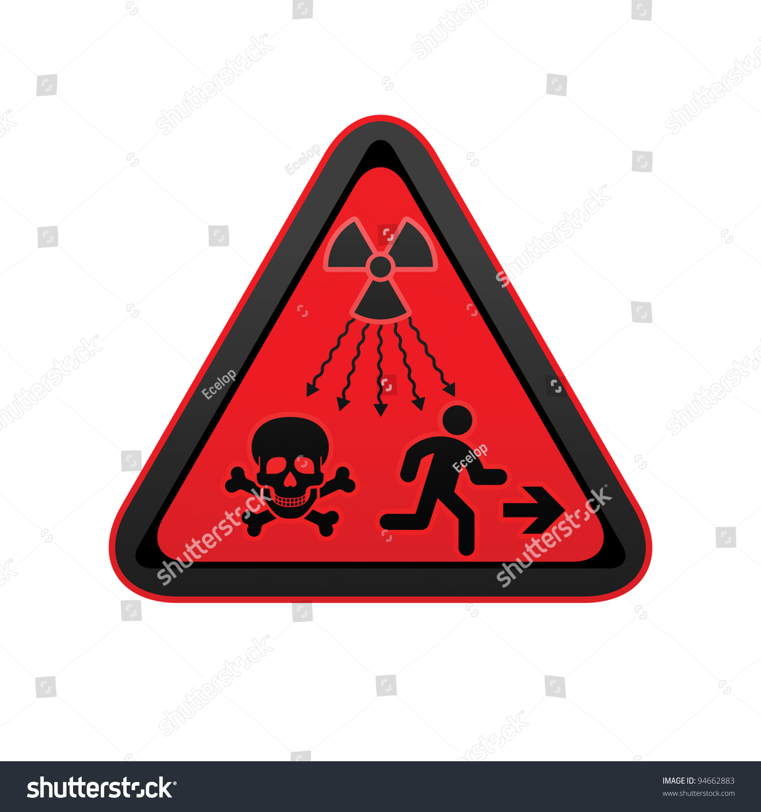New iso standard ionizingradiation warning supplementary stock new iso standard ionizing radiation warning supplementary symbol new un radiation sign biocorpaavc Image collections