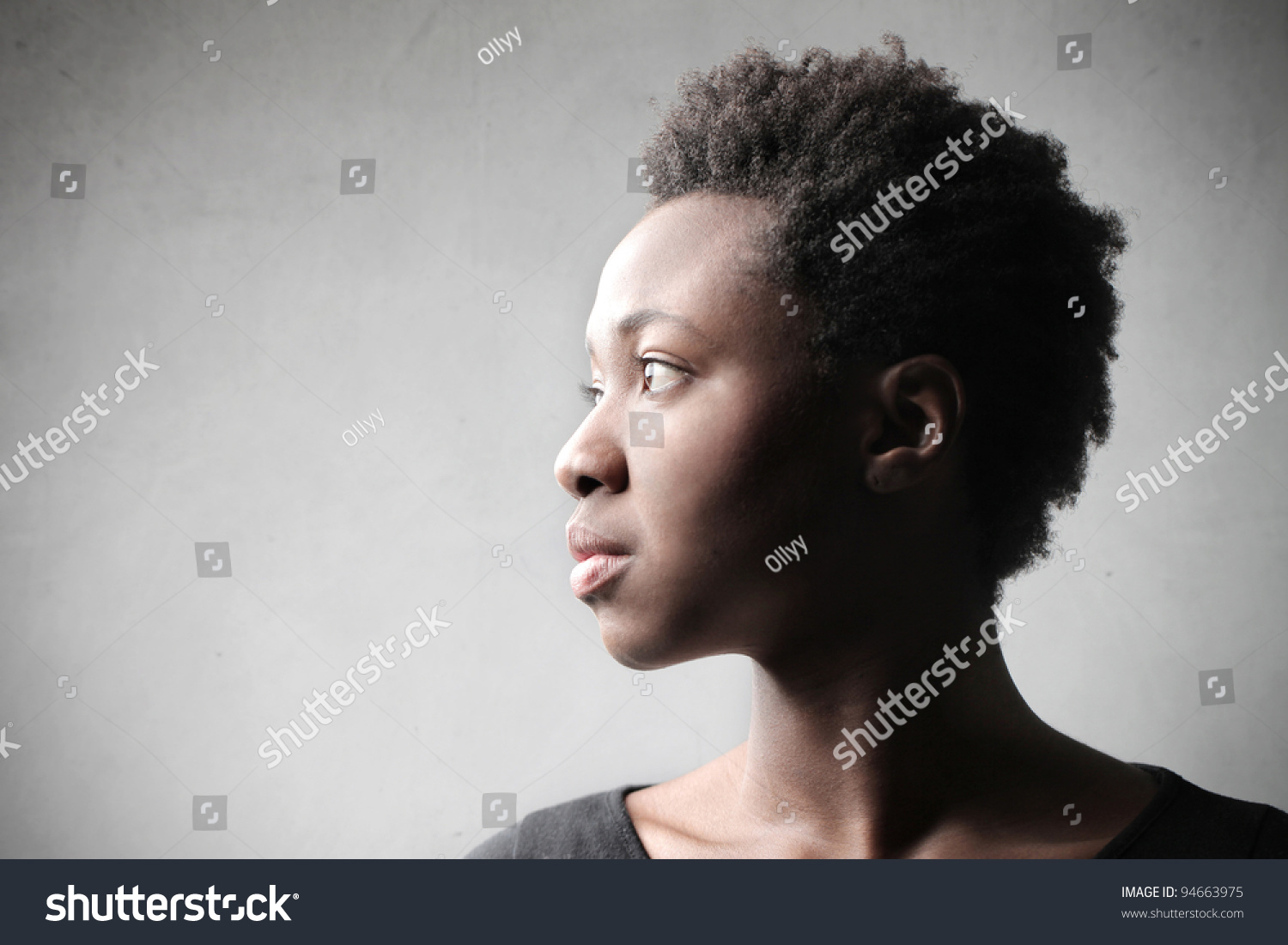 African woman profile