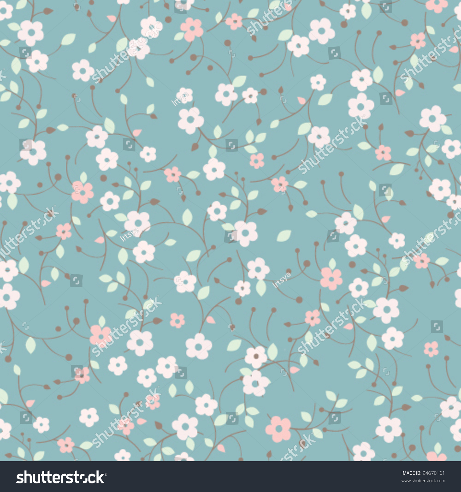 Xenapp Application Not Seamless Stock Vector Seamless Forget Me Not Flowers Pattern