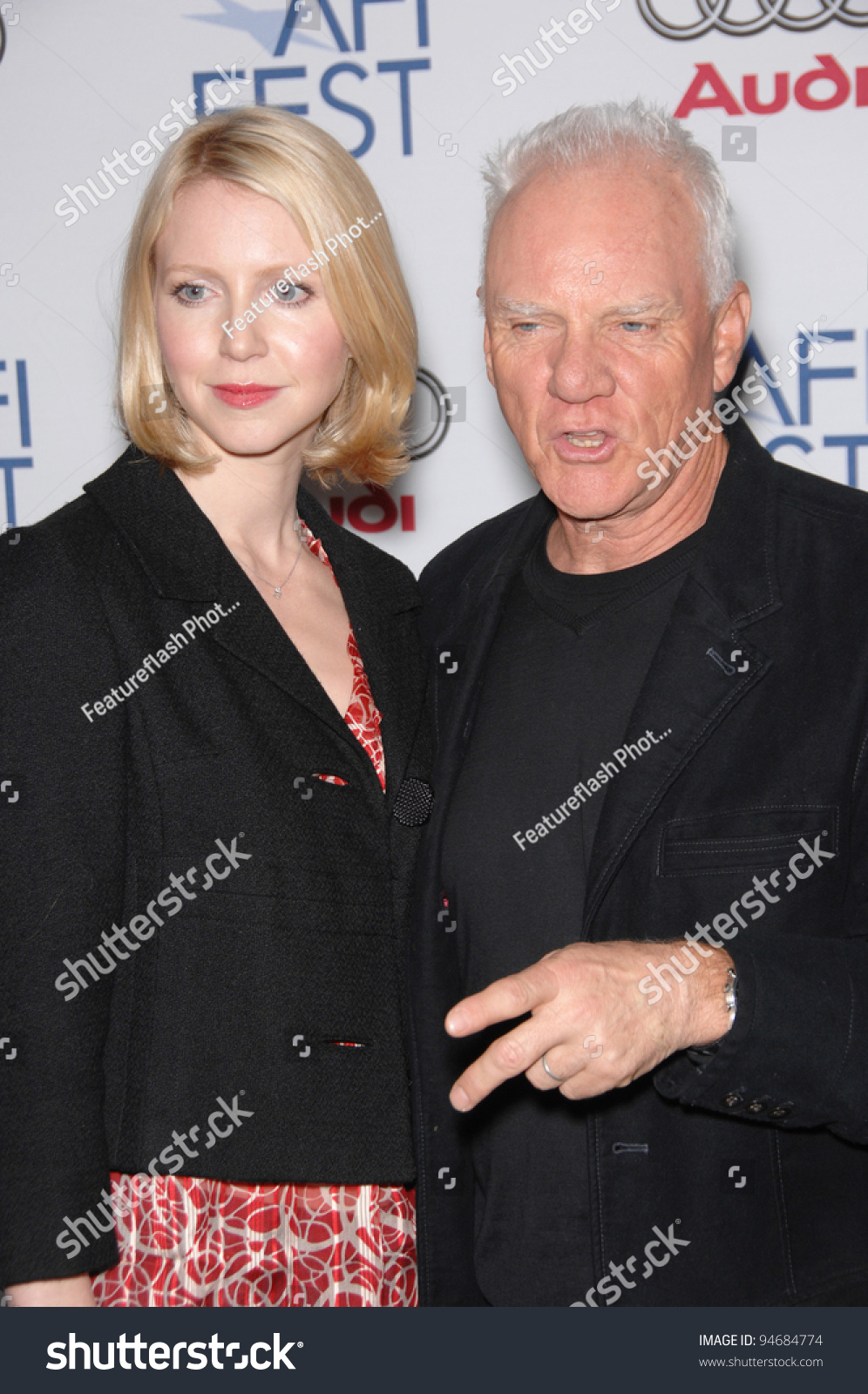 Malcolm mcdowell daughter lilly mcdowell at the afi gala premiere of southland tales