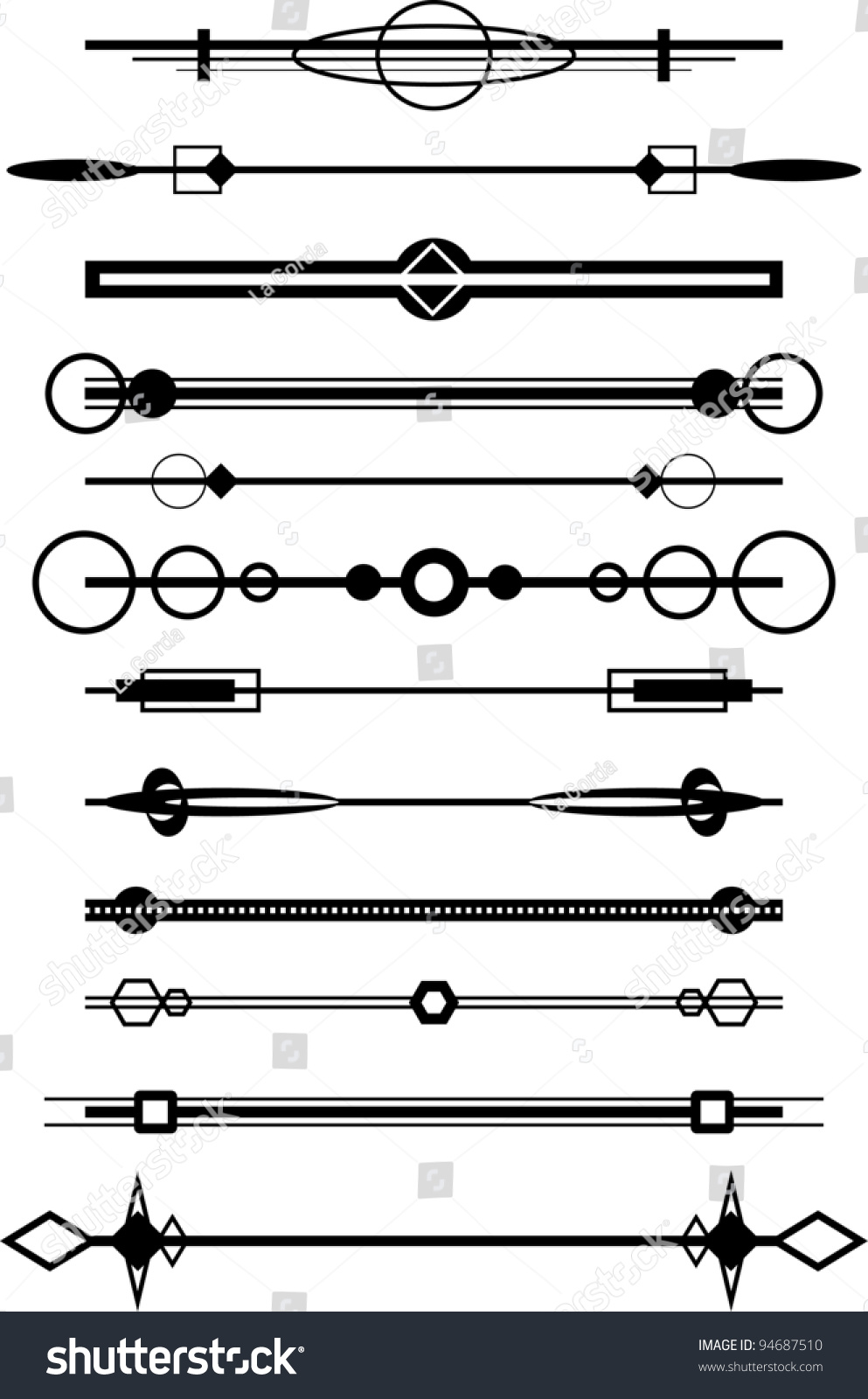 Drawing Lines Between Html Elements : Vintage drawing lines and elements stock vector