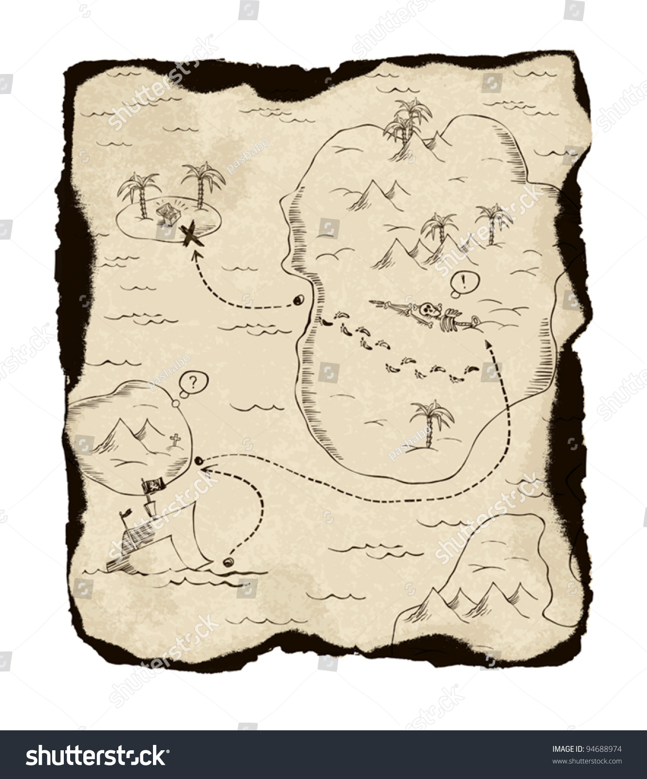 simple treasure maps vintage - photo #30