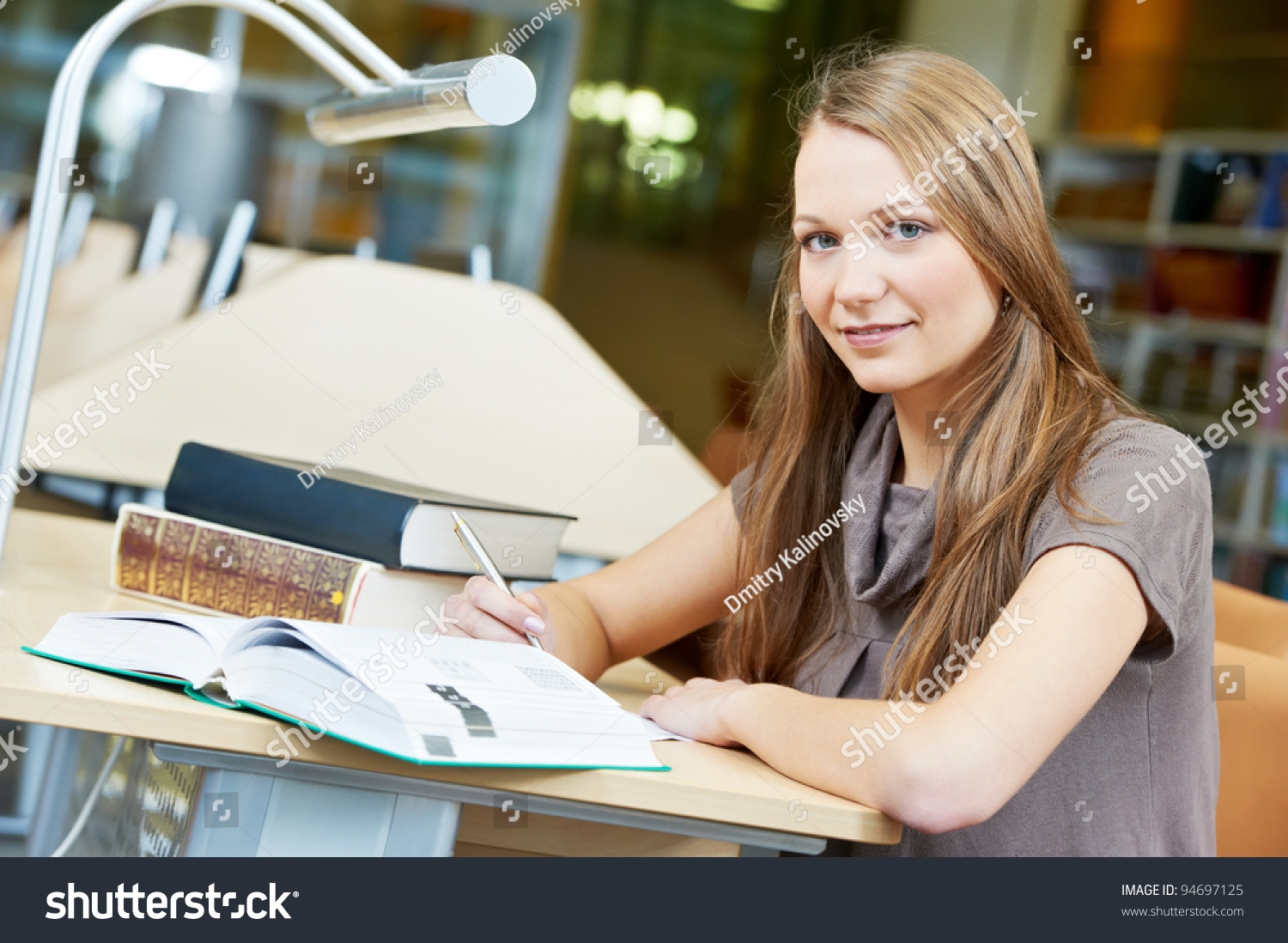 Happy Studying Young Teenage College Student Stock Photo 94697125 ...