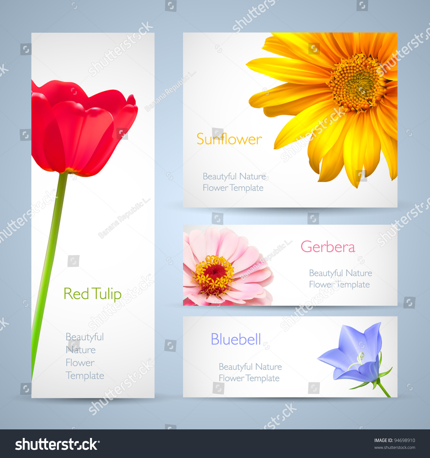 spring flowers invitation brochure template card layout background design for banners stock. Black Bedroom Furniture Sets. Home Design Ideas