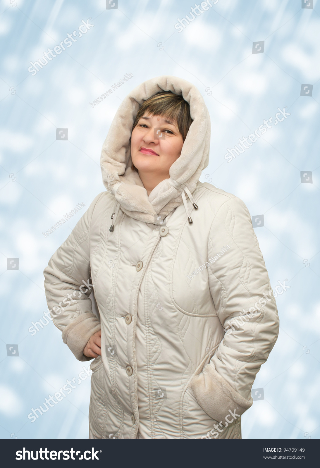 Woman Mature Age Cloak Stock Photo Edit Now 94709149 Shutterstock