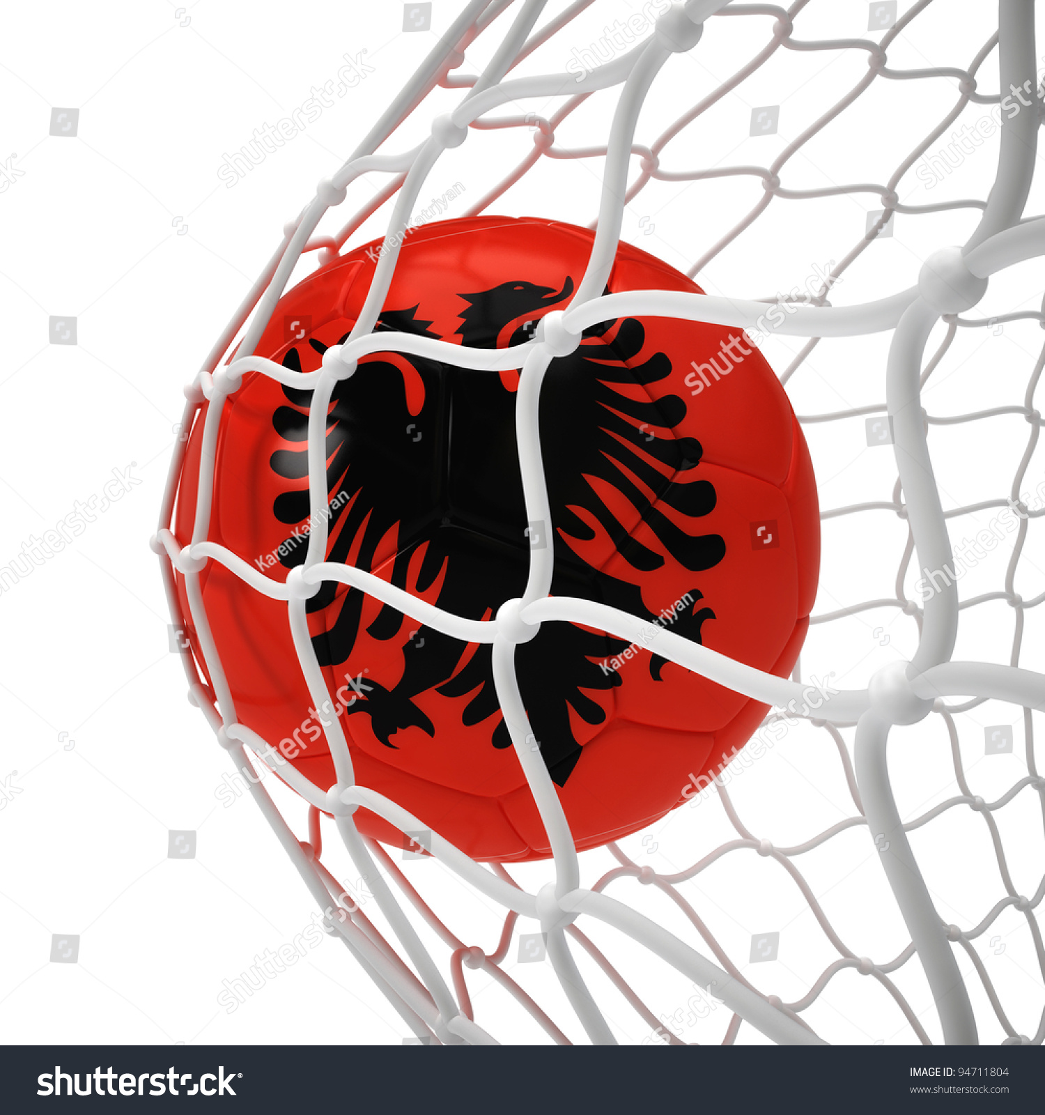 Famous Albanian Landmarks Stock Photo Albanian Soccer Ball Inside The Net