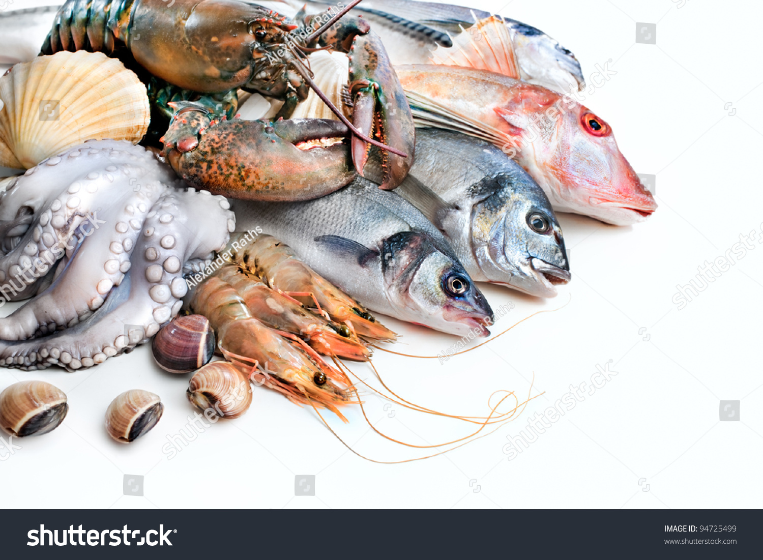 Fresh catch fish other seafood stock photo 94725499 for Fresh fish store near me