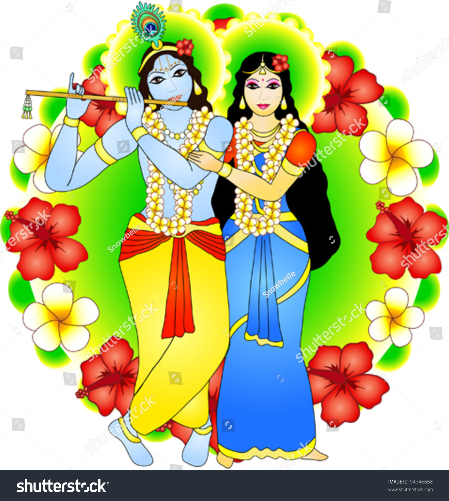 Famous Radha Krishna Tapestry Murals Photo Gallery for free download