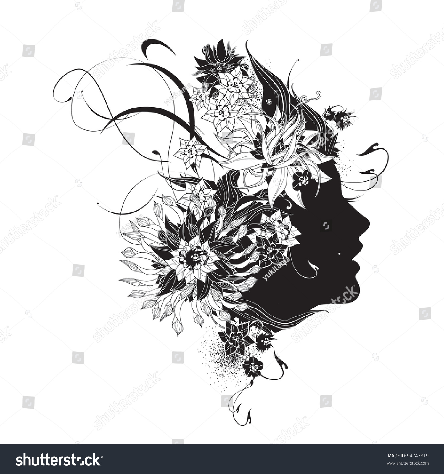 flower girl vector abstract - photo #38