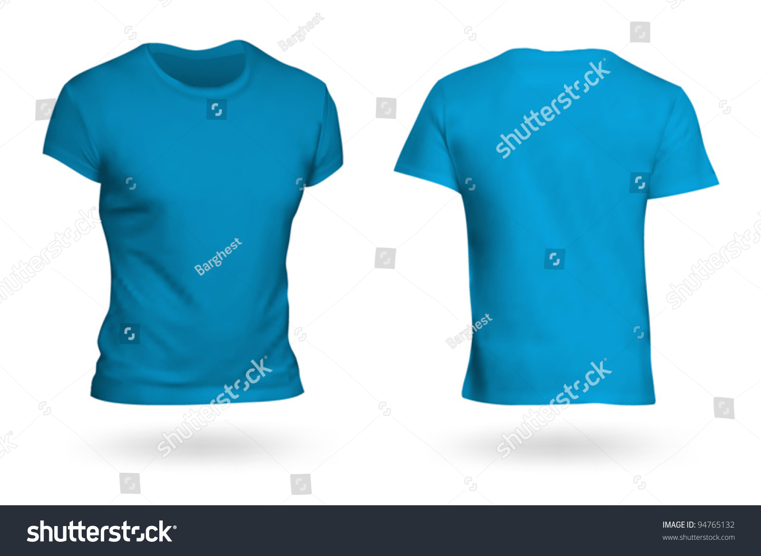 Blue t shirt template photo realistic mesh design for Blue t shirt template