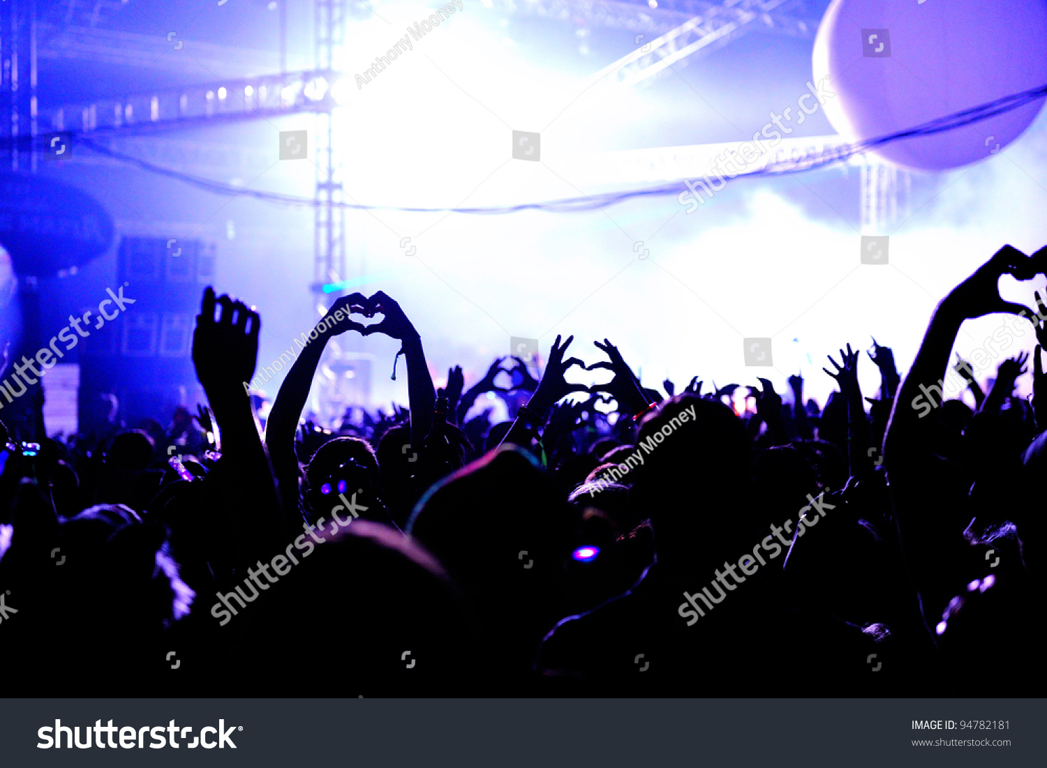 Love Heart Hands In Air At Festival - Crowd #94782181