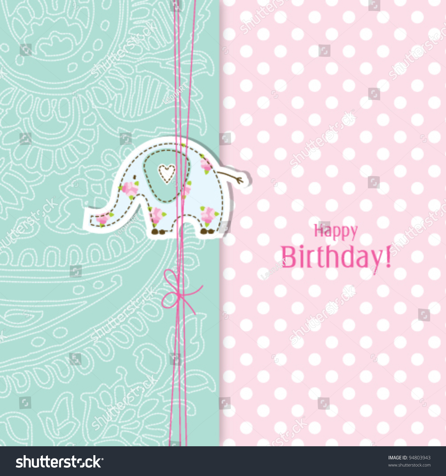 Birthday Card Template in PSD
