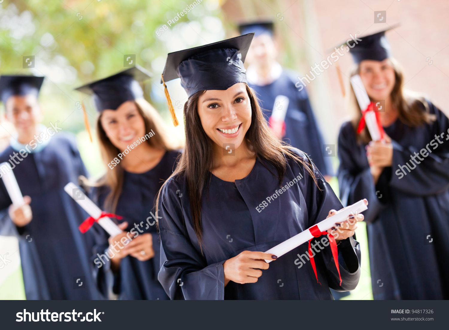 Group People Their Graduation Day Wearing Stock Photo 94817326 ...