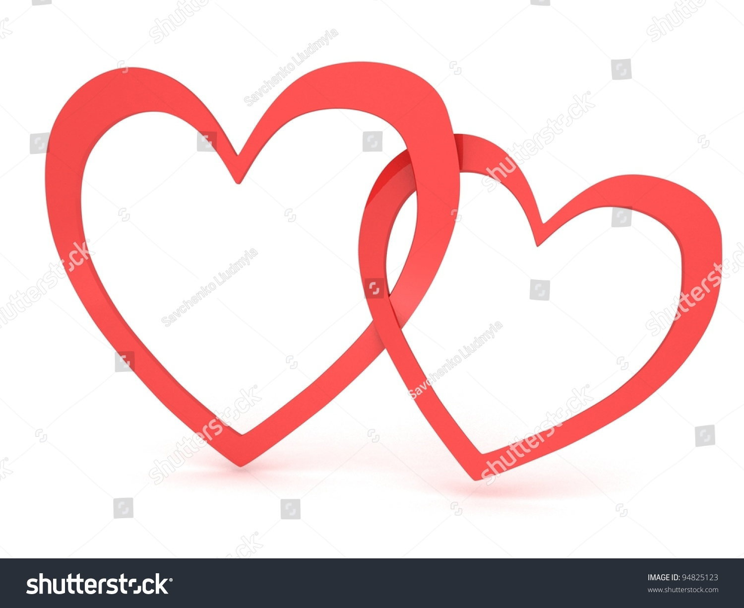 Two Hearts Together Stock Photo 94825123 : Shutterstock