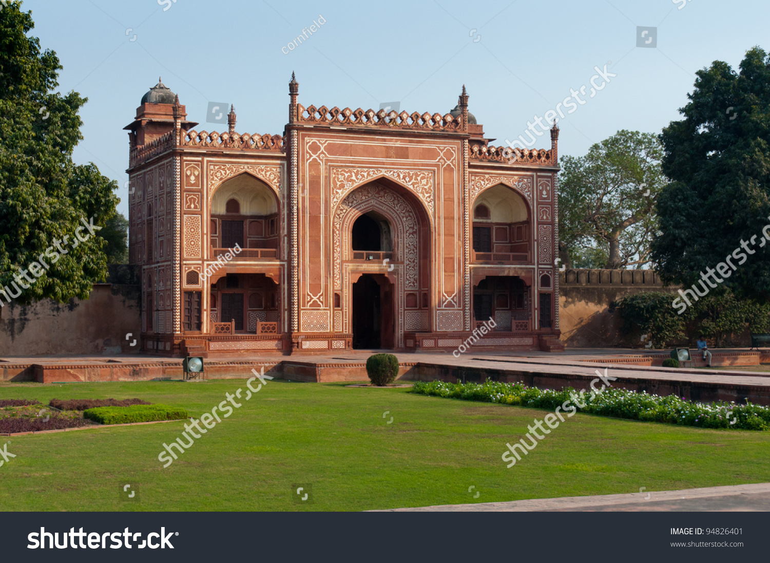 Red Sandstone Gateway To The Itimad-Ub-Daulah'S Tomb. Also ...