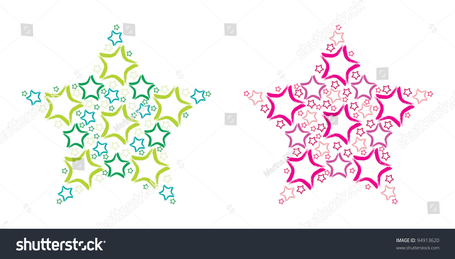 big star made small hand drawn stock vector shutterstock big star made of small hand drawn stars on a white background in vector format