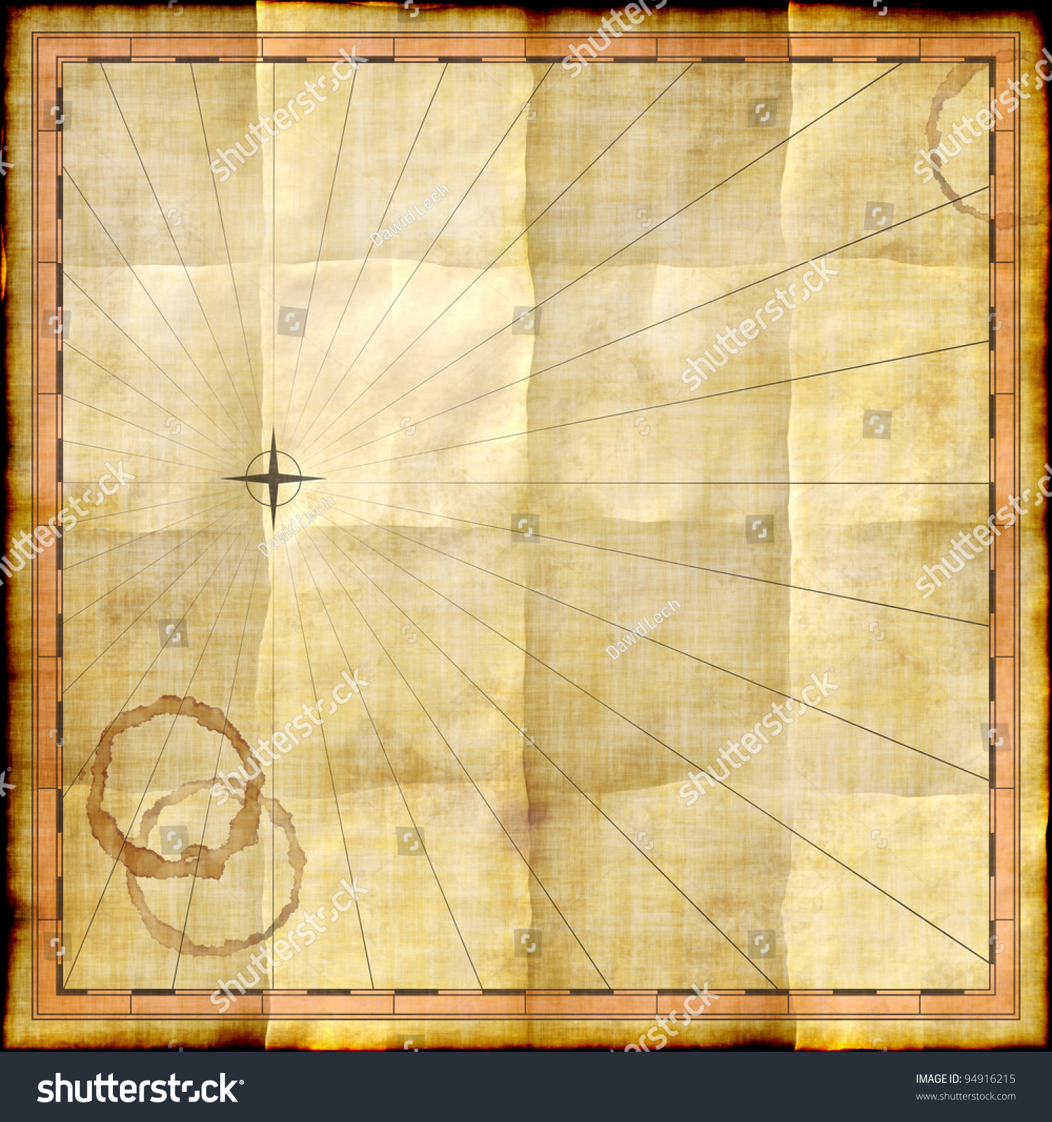 empty map template on old paper stock illustration 94916215, Powerpoint templates