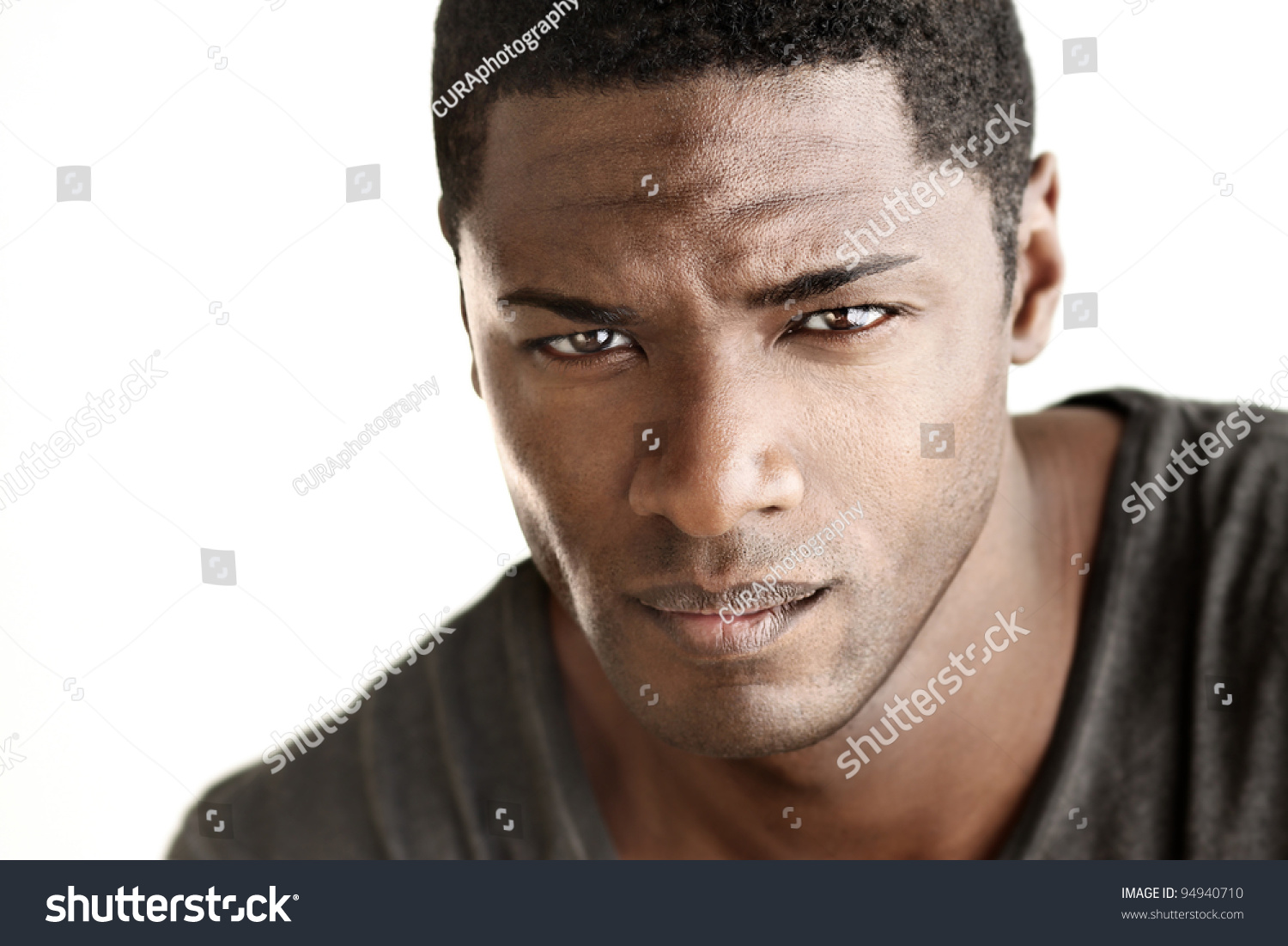 Highly Detail Portrait Young Good Looking Stock Photo ...  Good Looking Young Man