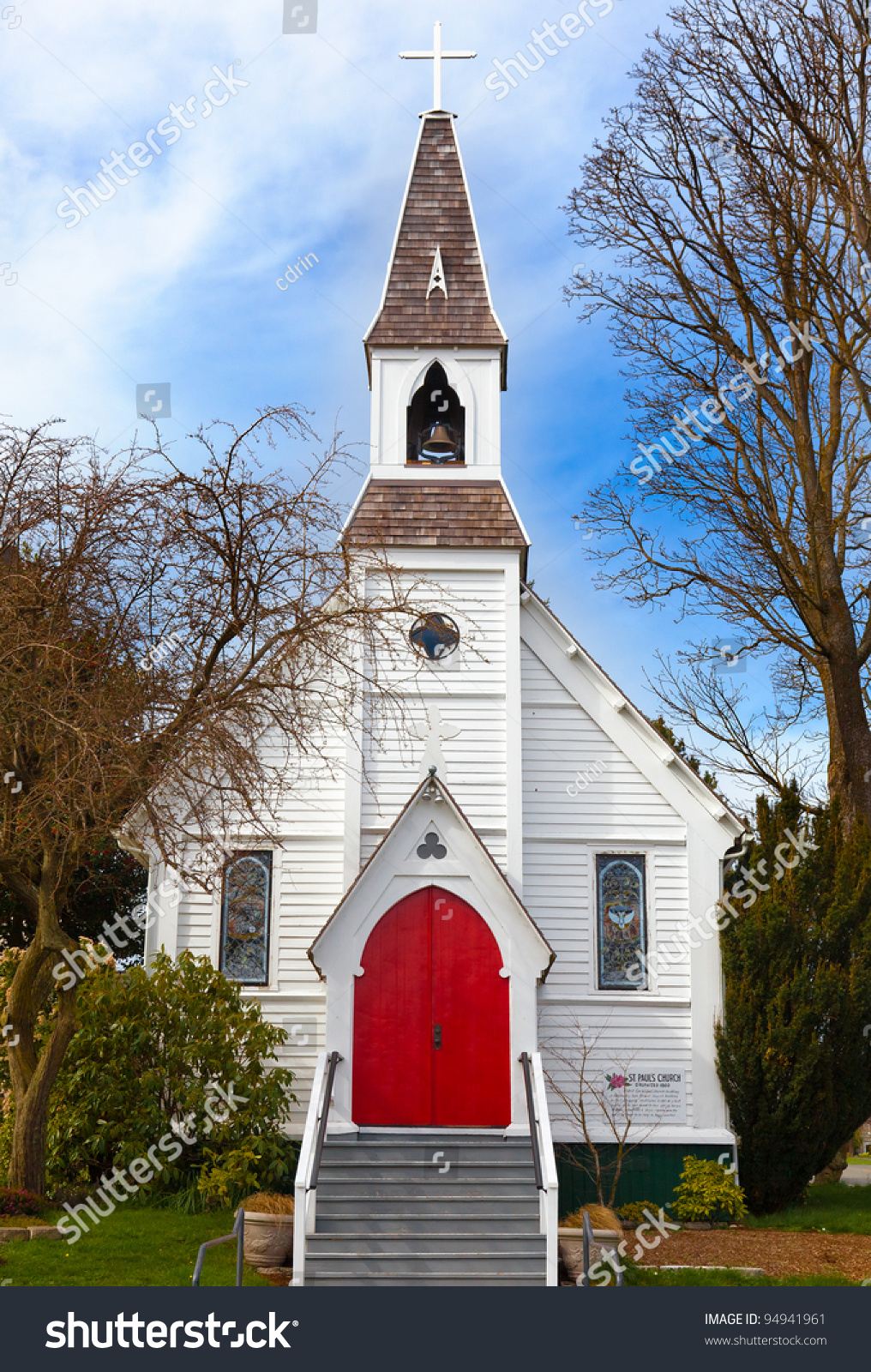 Historic Little Wooden Church Port Townsend Stock Photo 94941961 ...