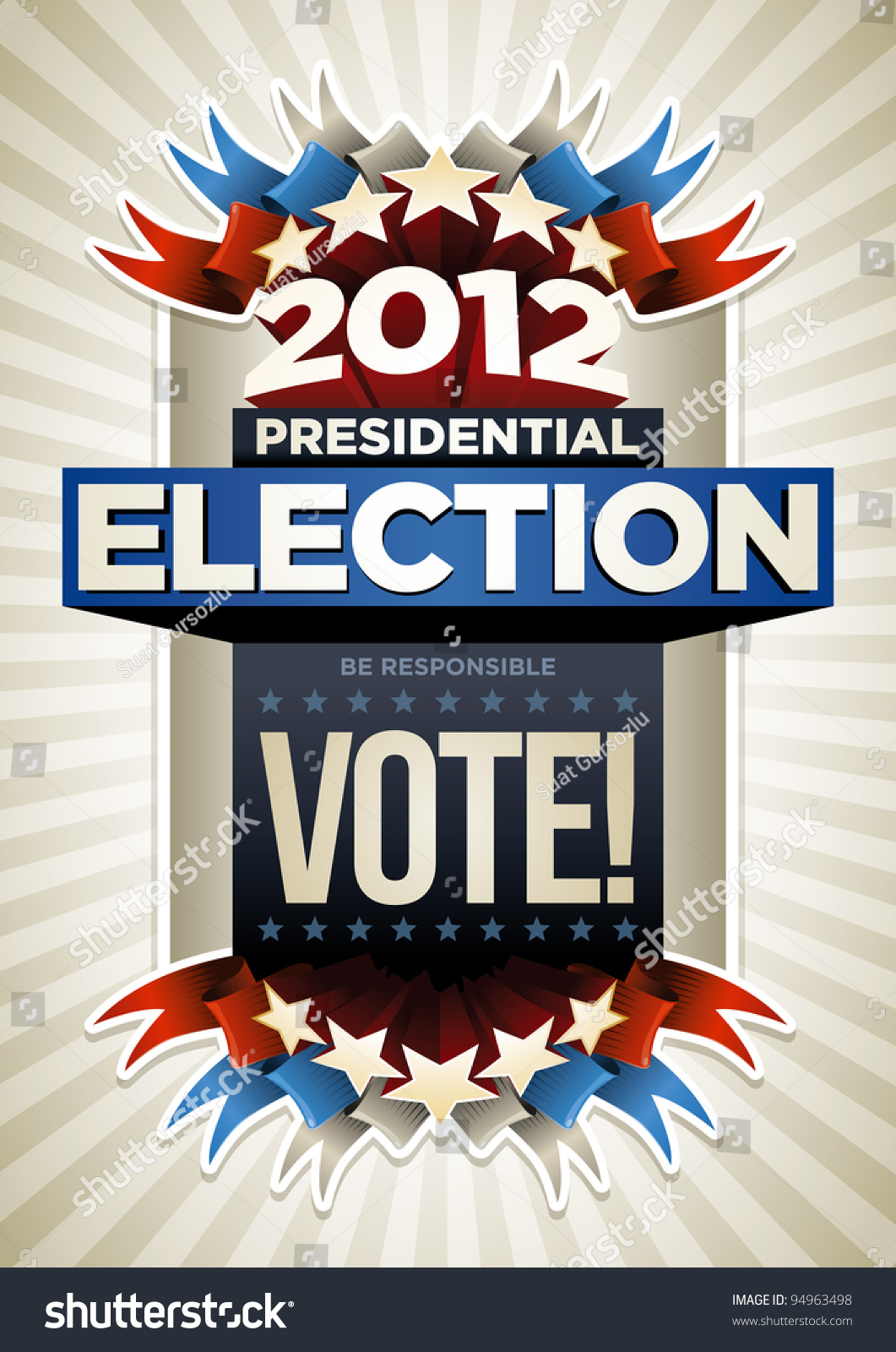 Poster design elements - 2012 Presidential Election Poster Design Elements Are Layered Separately In Vector File