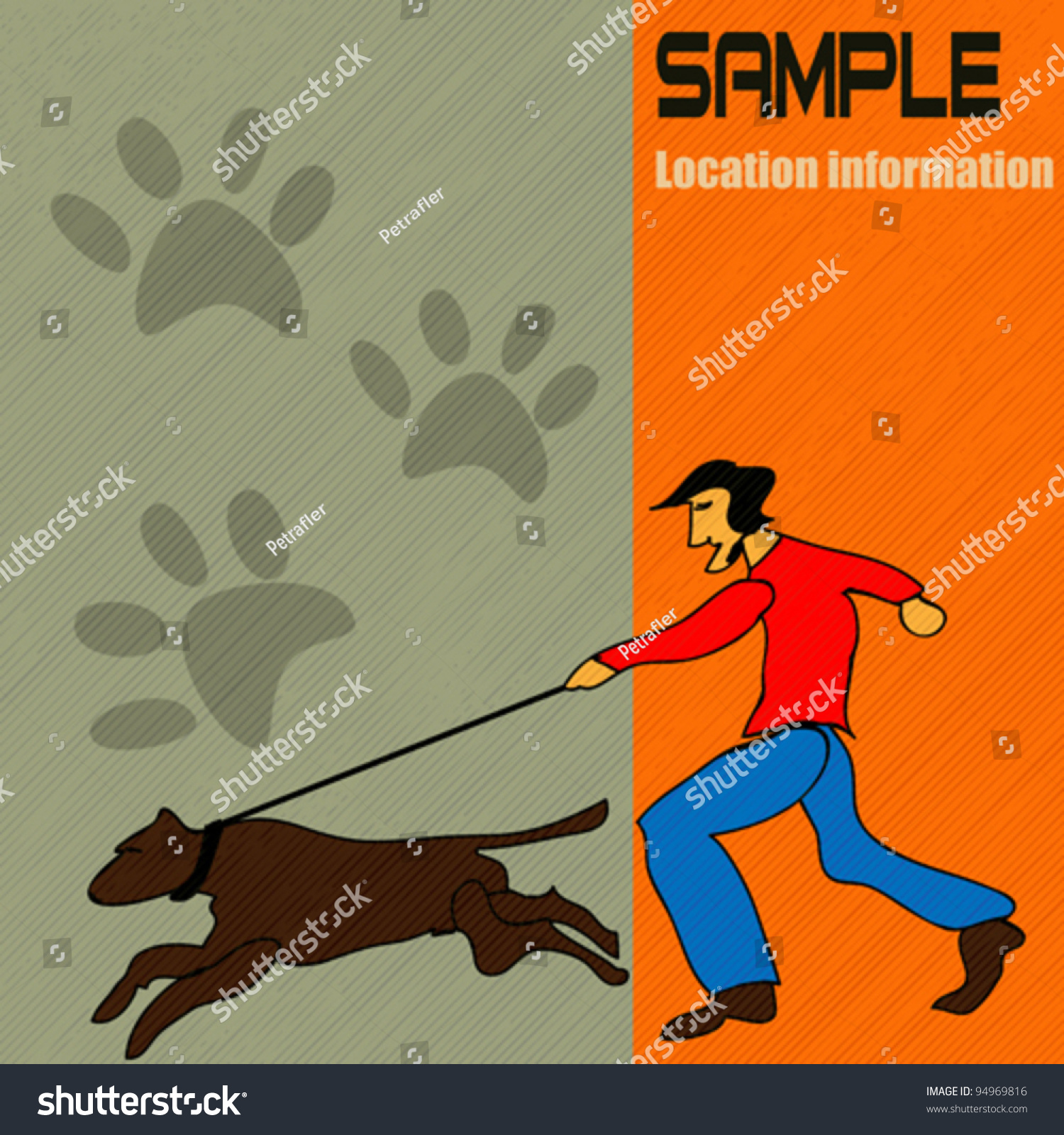 dog walking vector cartoon style backgound stock vector  dog walking vector cartoon style backgound
