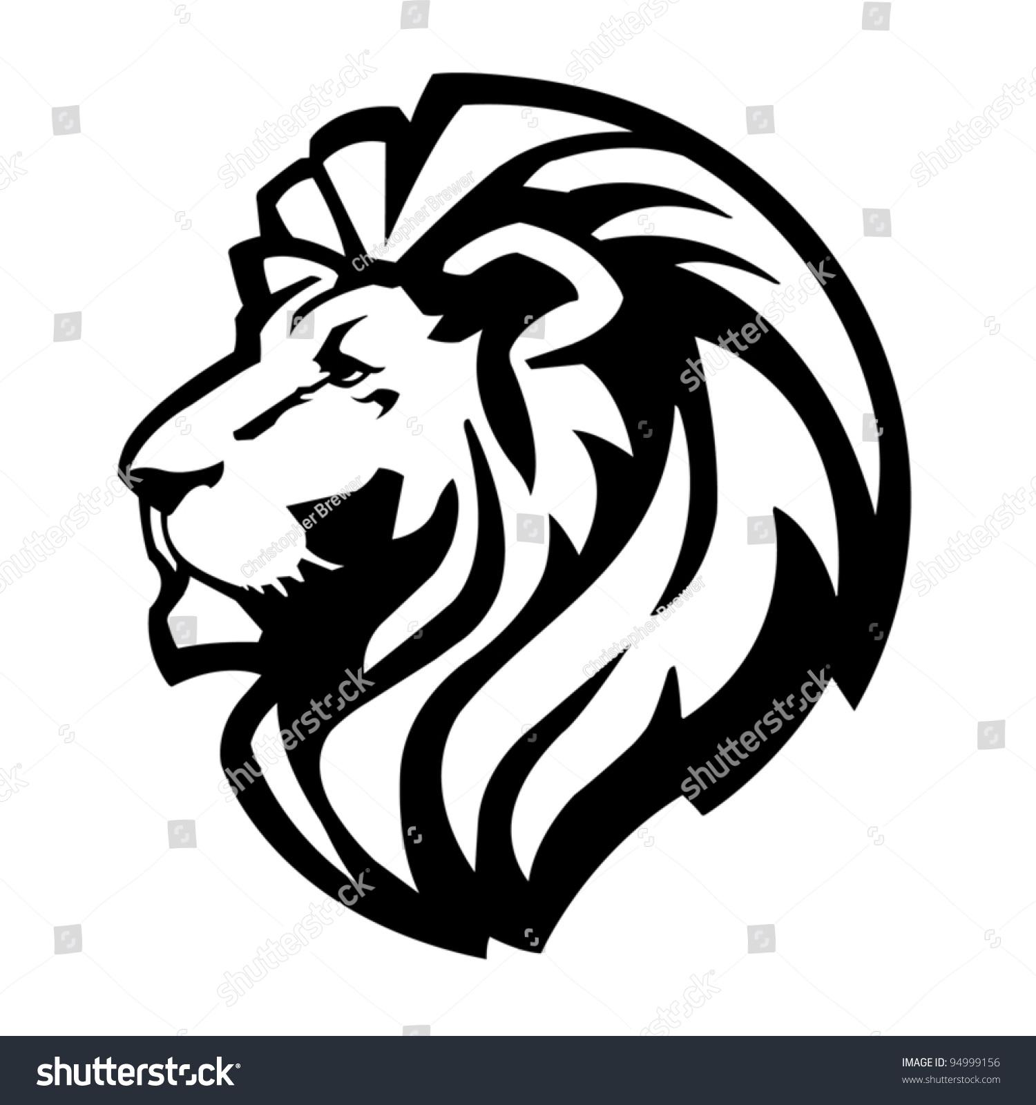Lion Head Icon Stock Vector 94999156 Shutterstock