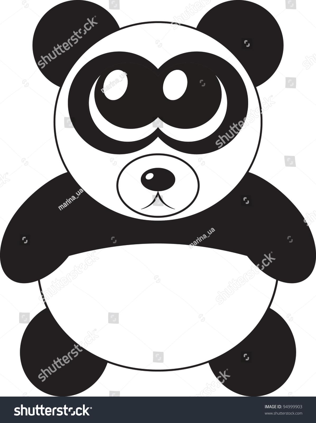 Cute Cartoon Panda Big Eyes Vector Stock Vector Royalty Free 94999903