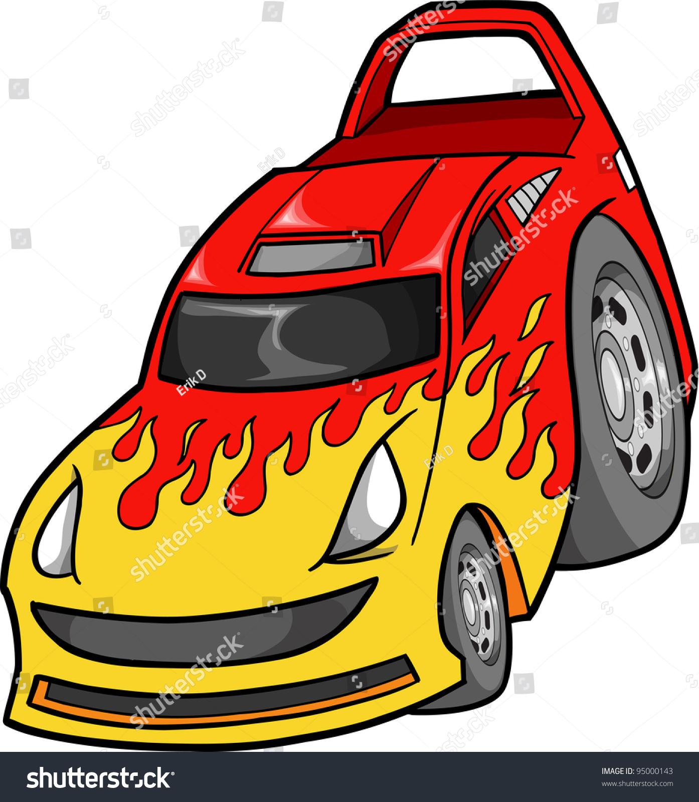 street race car vehicle transportation vector stock vector