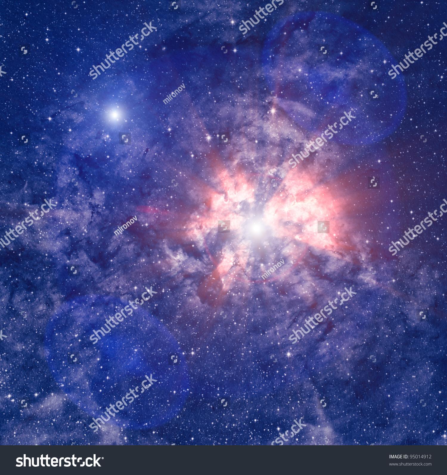 Heaven Nebula Stock Photo 95014912 : Shutterstock
