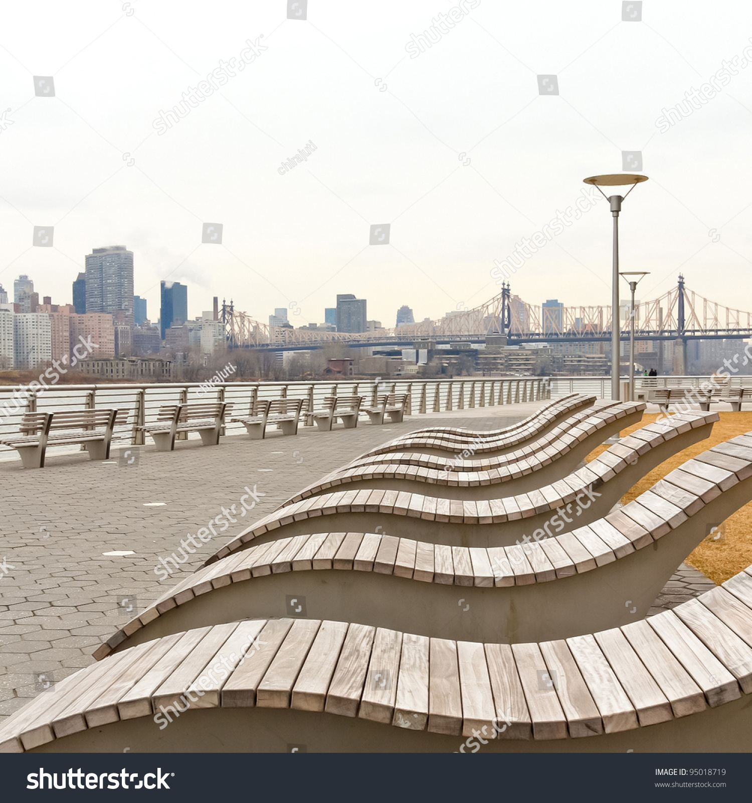 Wooden Beach Chairs By Waterfront Stock Shutterstock