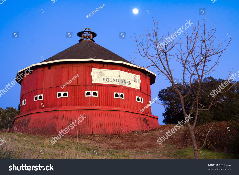 Round Red Barn At Fountaingrove Santa Rosa California