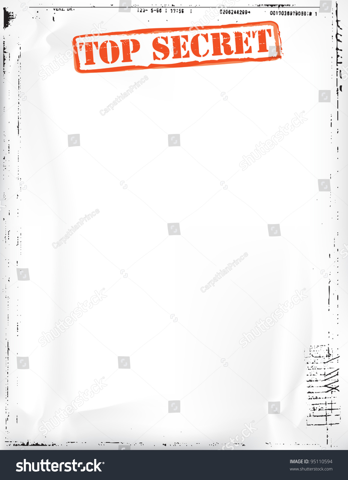 top secret document stock photo 95110594 shutterstock. Black Bedroom Furniture Sets. Home Design Ideas