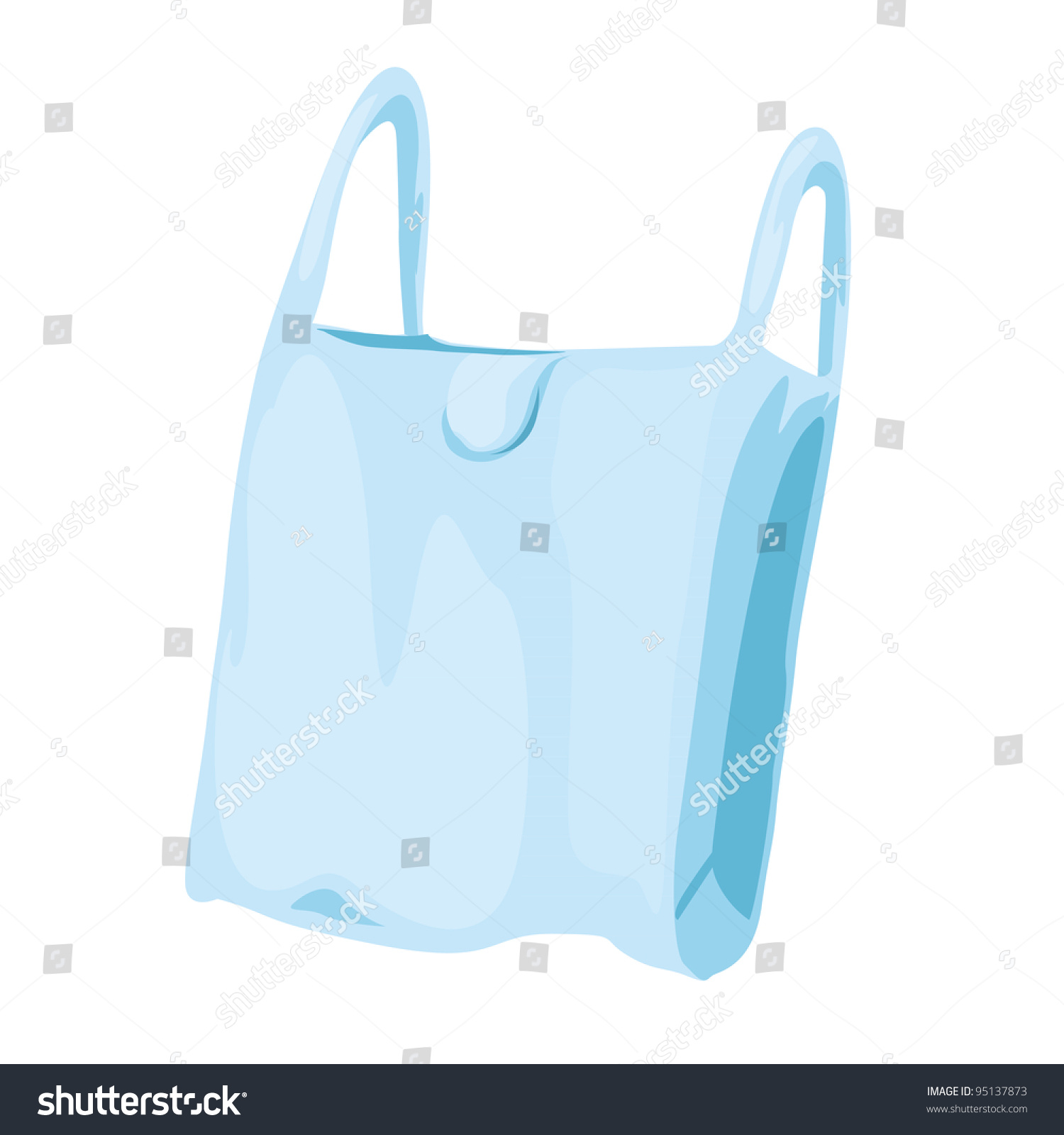 Illustration Plastic Bags Stock Vector 95137873 - Shutterstock