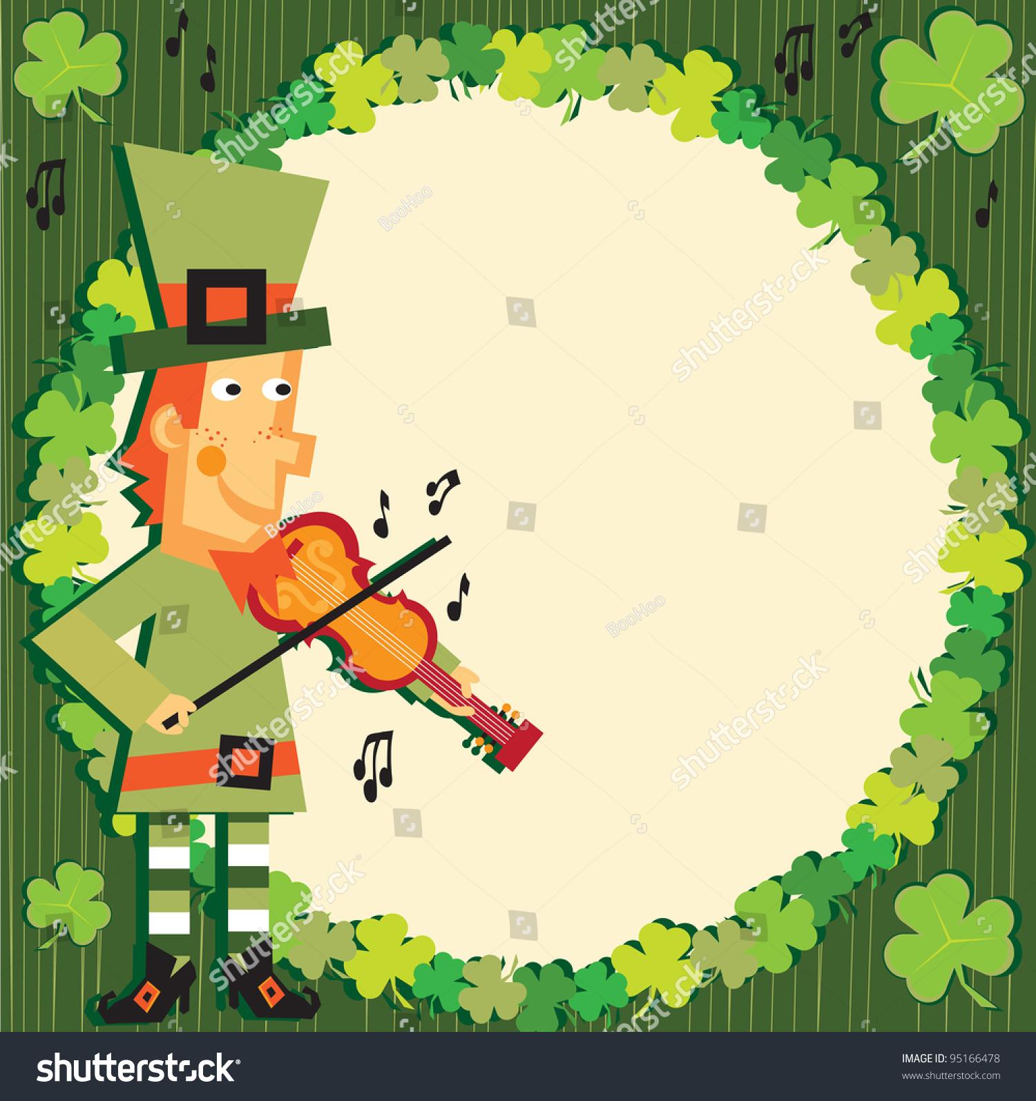 St Patricks Day Party Leprechaun Invitation Illustration – St Patricks Day Party Invitations