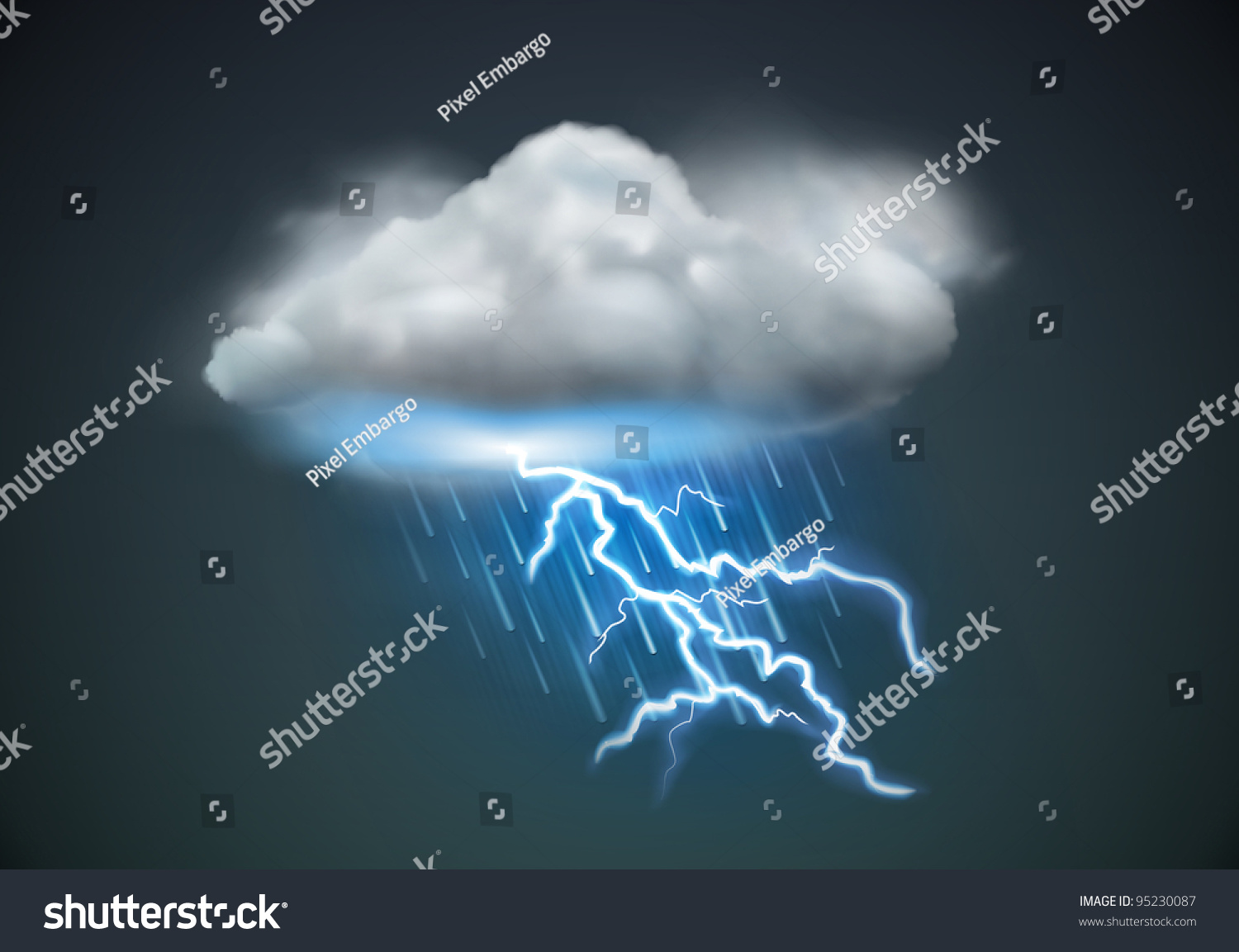 Vector Illustration Of Cool Single Weather Icon - Cloud ...