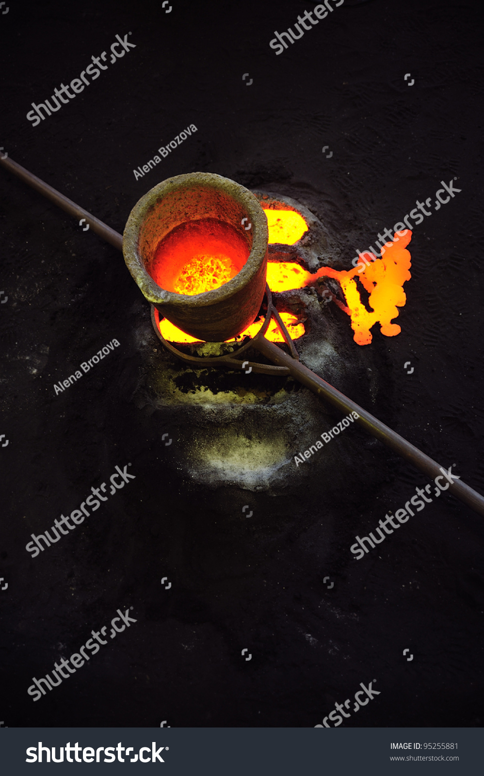 Old Encrusted Foundry Crucibles for Pouring Molten Metals |Molten Metal Crucible