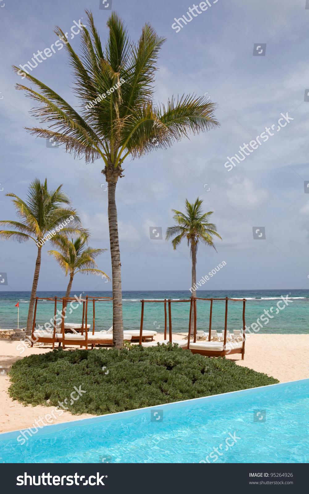 resort detail at the caribbean sea yucatan mexico stock. Black Bedroom Furniture Sets. Home Design Ideas