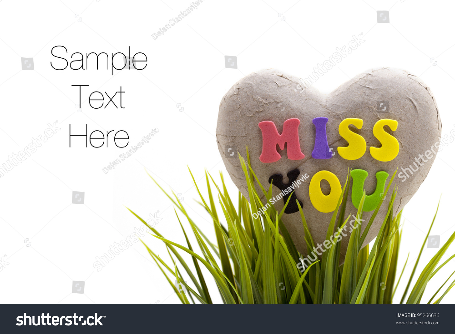 Miss you sentiment spelled out letters stock photo royalty free miss you sentiment spelled out with letters on broken heart made of paper spiritdancerdesigns Images