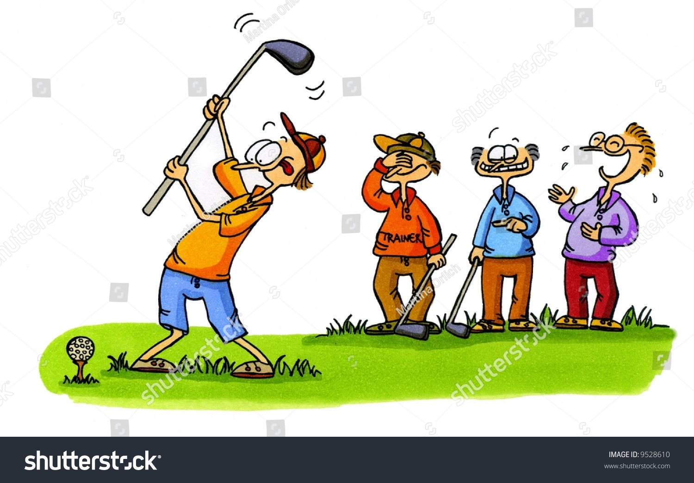 Golf cartoon series number 1 stock photo 9528610 shutterstock