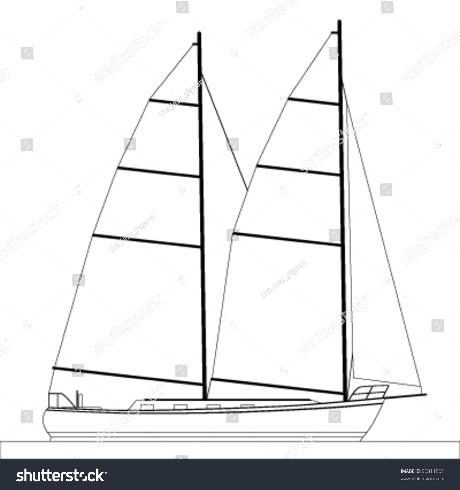 Boat Outline Clipart - Clipart Kid
