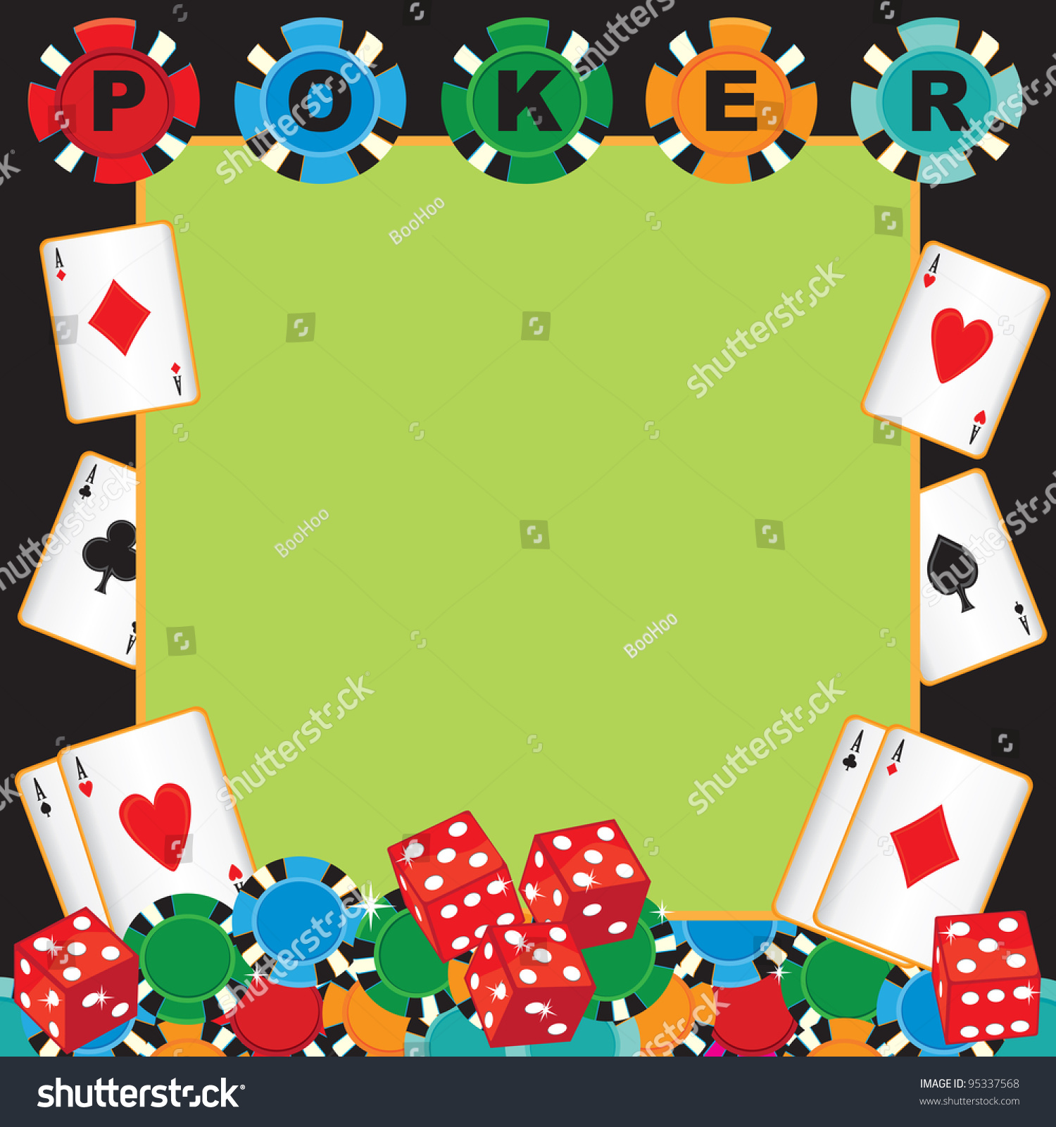 Poker Party Gambling Invitation Poker Chips Vector 95337568 – Playing Card Party Invitations