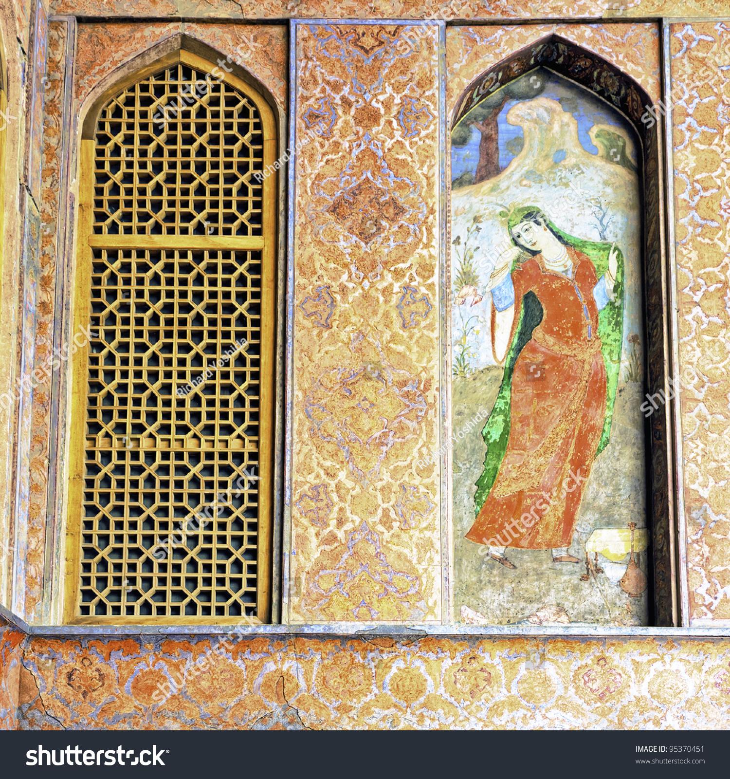 Wall Painting Ali Qapu Isfahan Iran Stock Photo (Edit Now)- Shutterstock