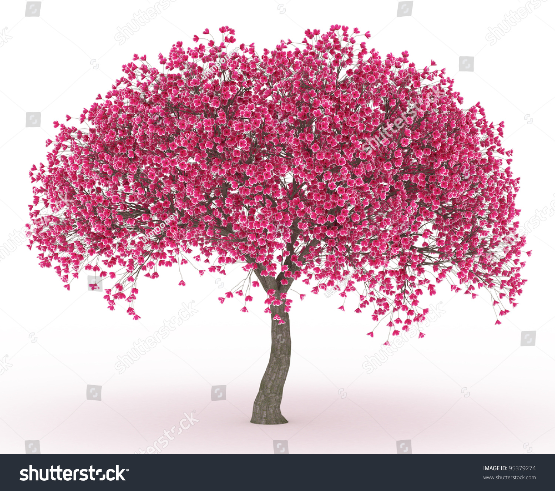 3d Render Peach Blossom No Leaves Stock Illustration ...