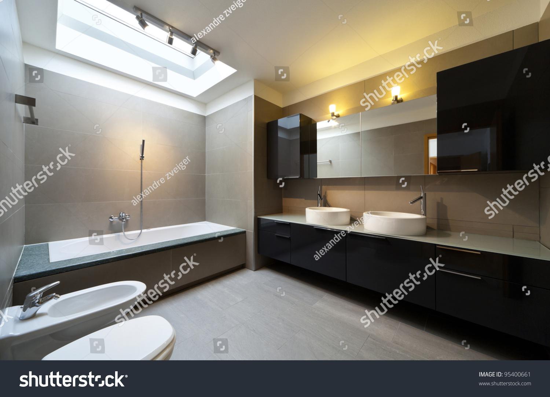 Beautiful apartment interior bathroom stock photo 95400661 for Beautiful flats interior